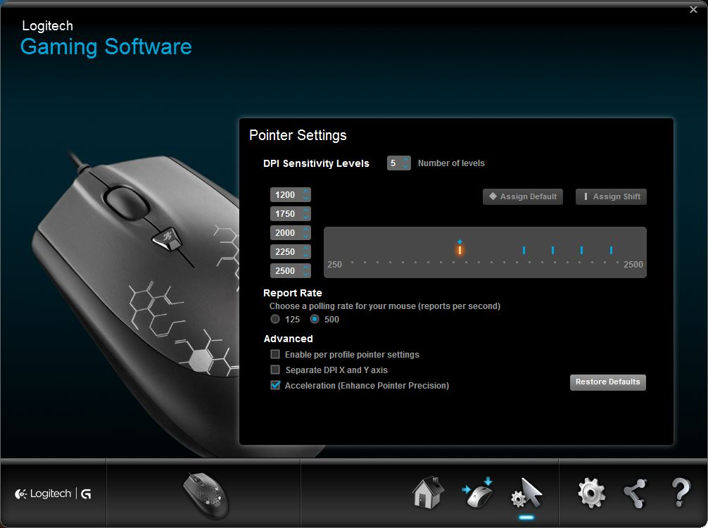 Logitech Gaming Software for mouse