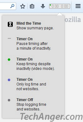MindTheTime to keep track of time spent on Internet